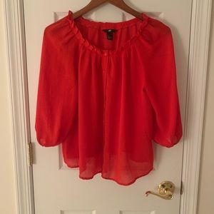 Tomato red blouse